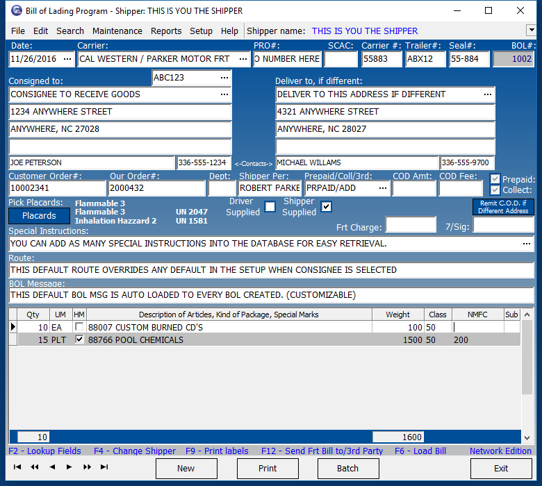 STARRESOFT - Star Bill of Lading Software - Easily print all your ...